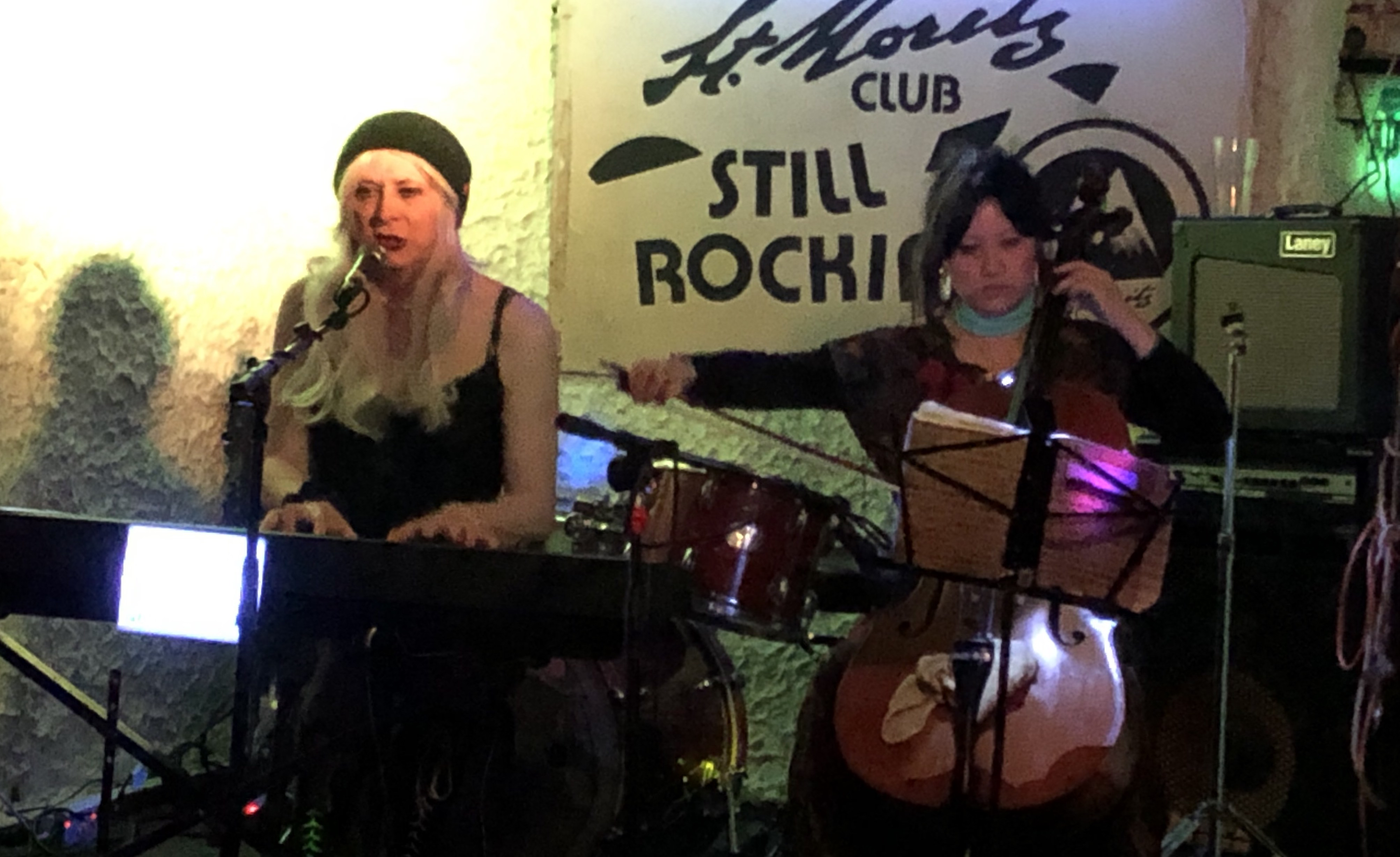 Juliet & Nanette performing at the St Moritz Club, 9 Mar 2019