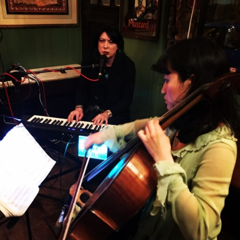 Juliet & Nanette performing at The Nelson's, London. April 2019