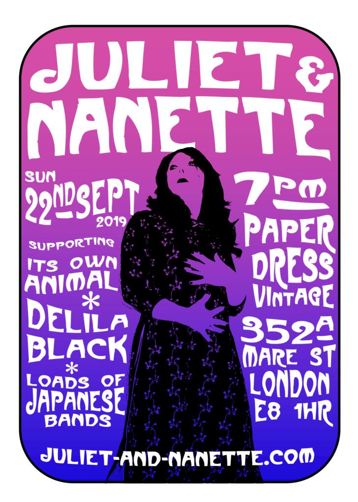 Juliet & Nanette at Paper Dress Vintage, 22 Sept 2019
