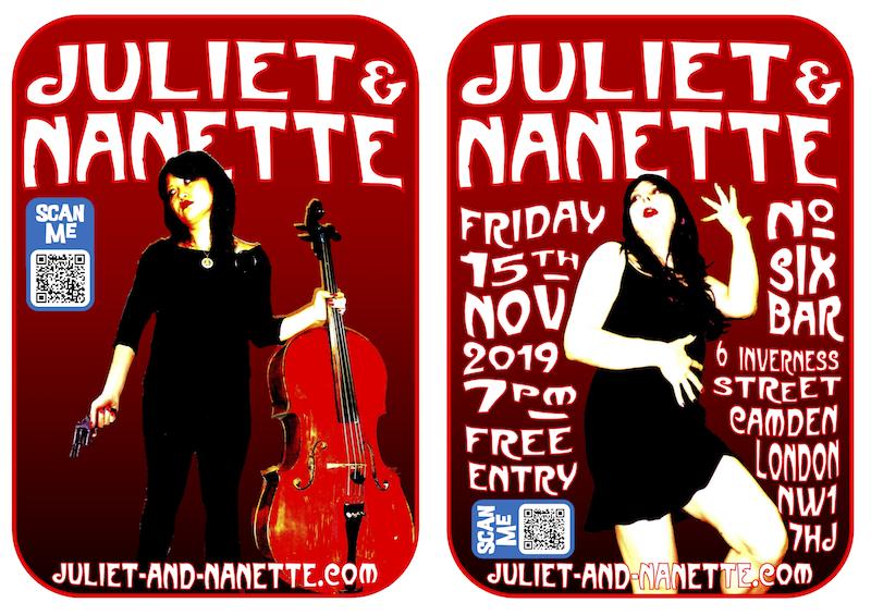 Juliet & Nanette at Number 6 Bar, 15 Nov 2019