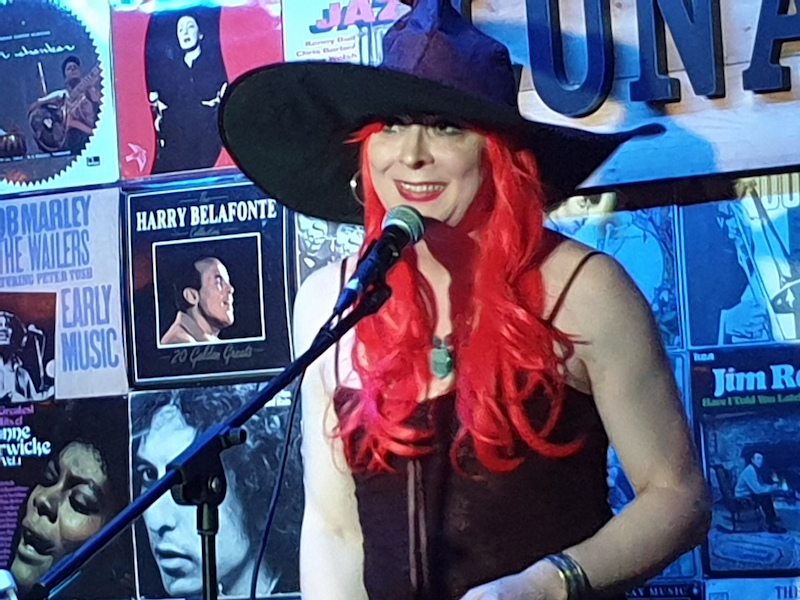 Juliet trying a smile at the Luna Halloween Special, 31 Oct 2019
