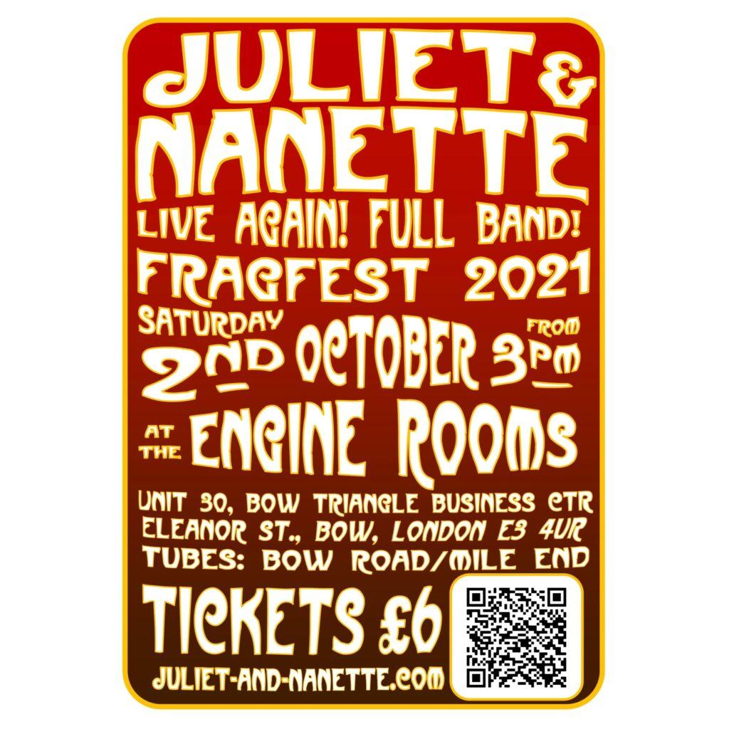 Juliet & Nanette at Fragfest 2021, 2 October, at the Engine Rooms, London